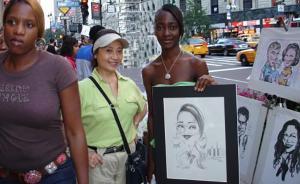 美国华人口述|时代广场上的华裔街头画家