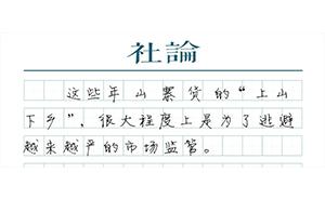"""【社论】别让农村成为""""山寨货""""的舒适区"""
