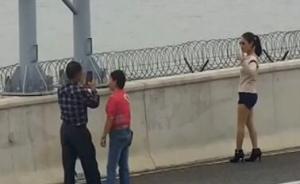 在港珠澳大桥应急车道上停车拍照,司机被扣6分罚款两百元