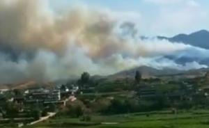 云南宾川县发生森林火灾: 过火面积约4公顷,正紧急扑救
