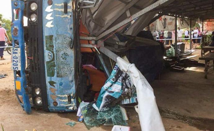 柬埔寨突發交通事故致2死5傷,死者為中國情侶