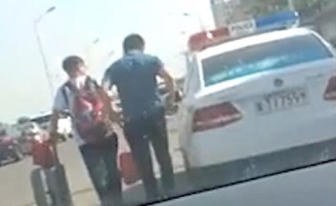 """衡水回應""""警車送孩子上學"""":司機系勞務派遣駕駛員,已辭退"""