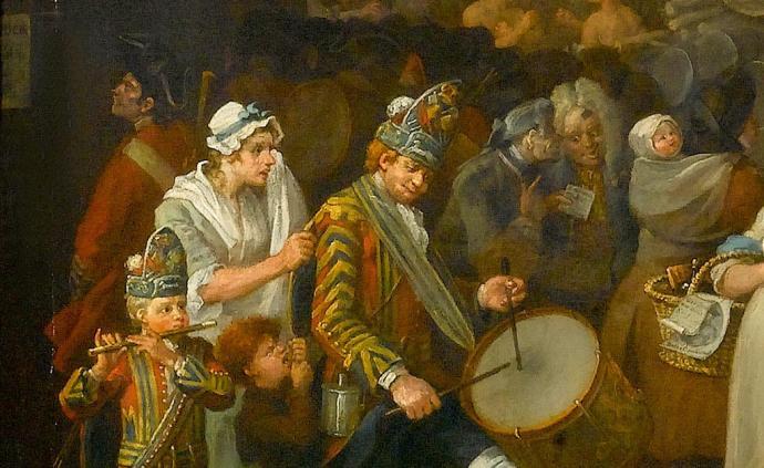 威廉·荷加斯笔下18世纪的伦敦:充满哨声鼓声和狗吠的街头