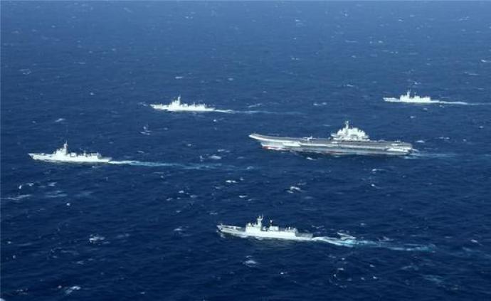 台媒称解放军航母编队接近关岛海域,现已进入南海