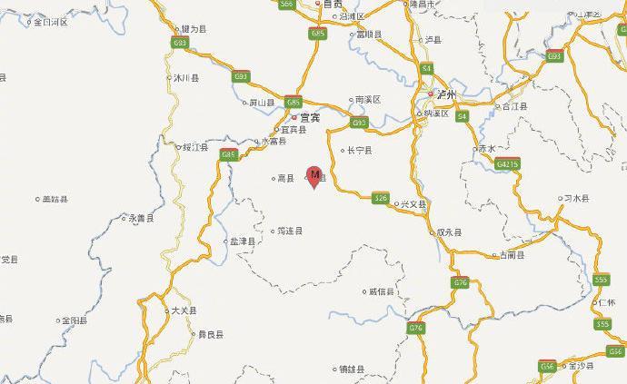 宜宾珙县发生3.2级地震,震源深度5千米