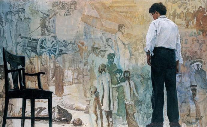 """""""踱步""""在新中國美術史,時代印記下的歷史圖像"""