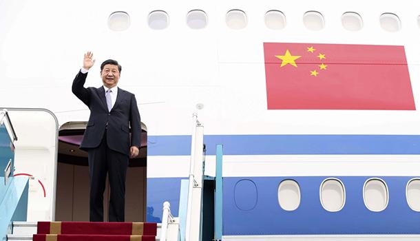 习近平抵达大阪出席即将举行的二十国集团领导人第十四次峰会