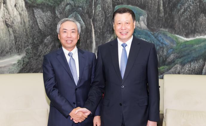 應勇市長會見的這位日本客人,建了上海這座標志性建筑