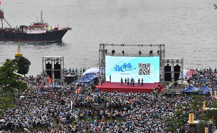 人民日報海外版:護法治反暴力是香港主流民意