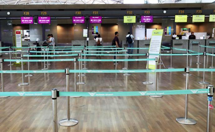 早安·世界|韩国公民抵制赴日旅游,机场值机处空空荡荡