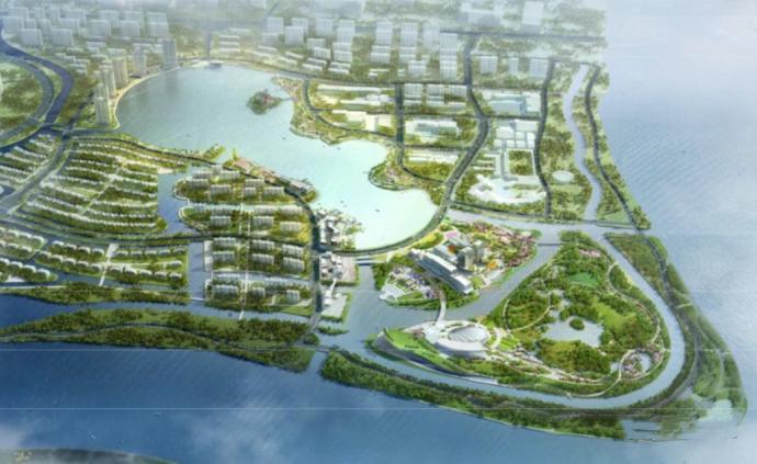 闵行兰香湖开挖:占地40万平方米形同一把钥匙,两年建成