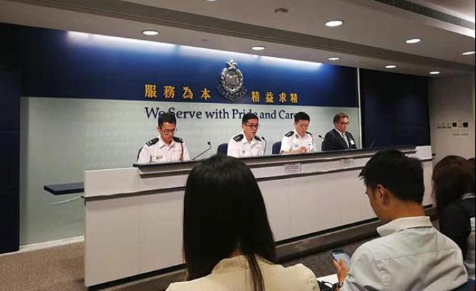 香港警方召开例行记者会,呼吁尊重记者采访自由
