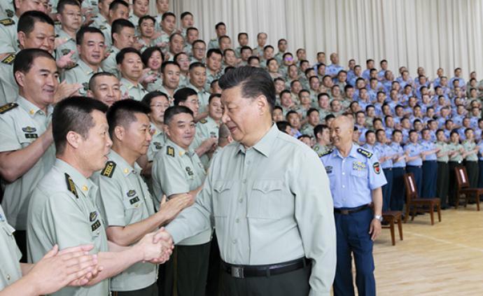习近平主席视察空军某基地重要讲话引起强烈反响