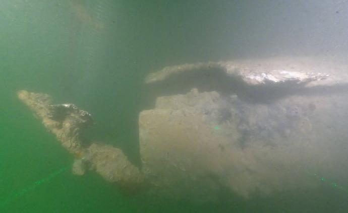 """""""定遠艦""""沉艦遺址在山東威海發現,出水一批沉艦遺物"""