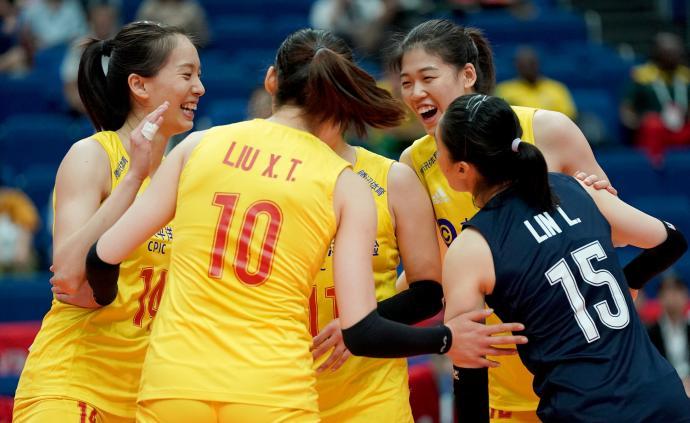 两连胜!女排世界杯,中国3-0战胜喀麦隆