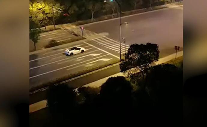 """法拉利深夜""""炸街"""",居民不堪其擾拍視頻舉報后警方介入調查"""