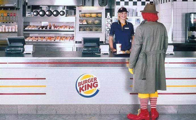 """通过这种技术,汉堡王""""烧了""""麦当劳的广告"""