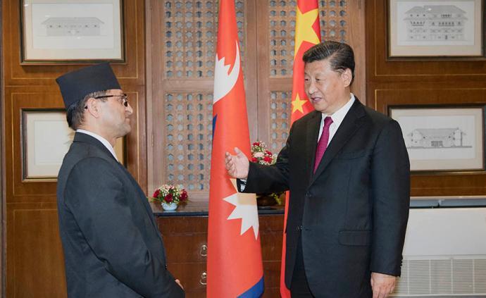 習近平會見尼泊爾聯邦院主席蒂米爾西納