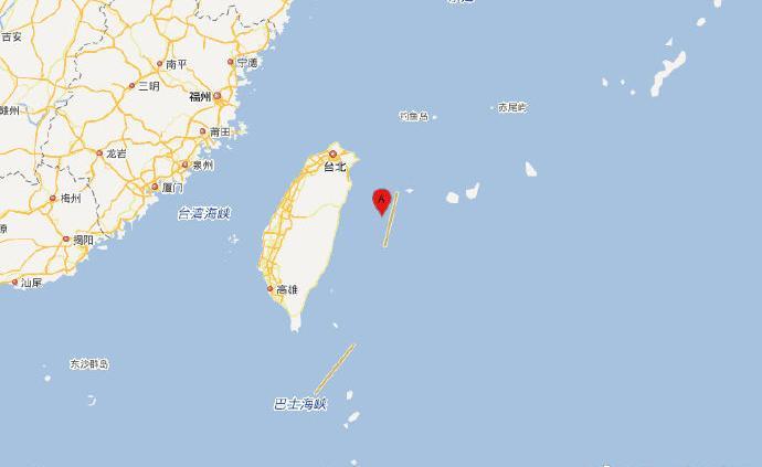 臺灣花蓮縣海域發生5.1級地震,震源深度16千米