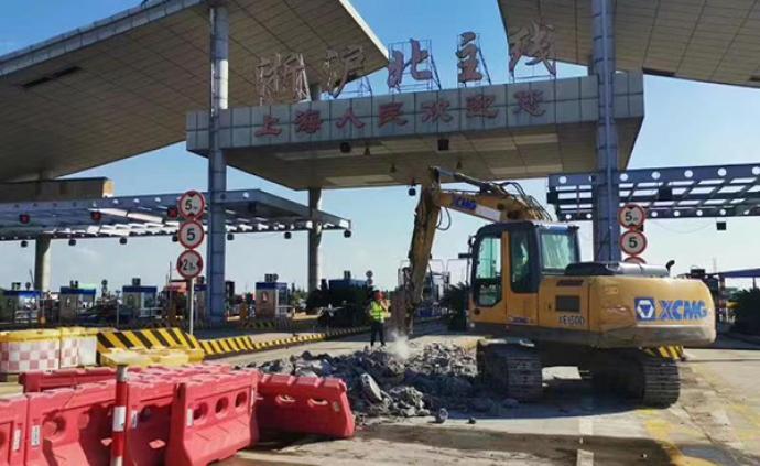 """過往車輛注意!雙向36條車道的""""亞洲第一收費站""""已開拆"""