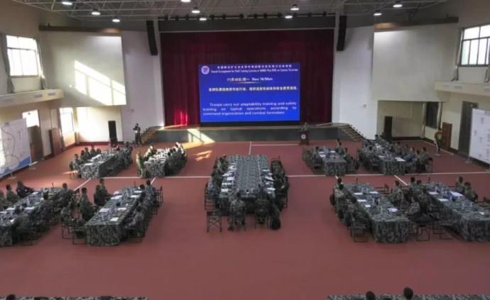 东盟防长扩大会反恐专家组联演在广西举行,出动10架飞机
