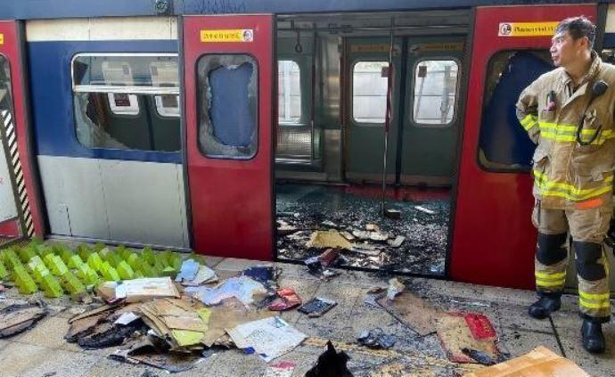 港铁接连多日遭大肆破坏,香港警方警告暴徒立即停止违法行为