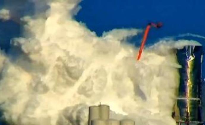 """SpaceX""""星際飛船""""測試中發生爆裂,噴發大量煙霧"""