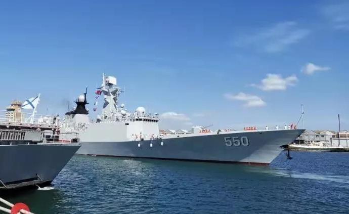 中國海軍濰坊艦抵達南非,參加中國俄羅斯南非三國海上聯演