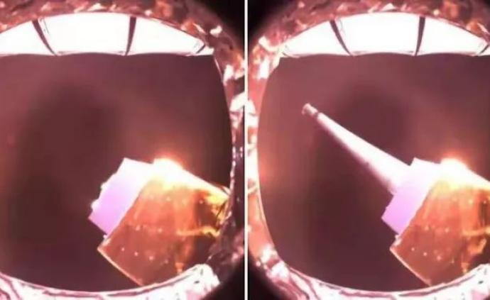 嫦娥四號任務中-荷低頻射電探測儀天線展開