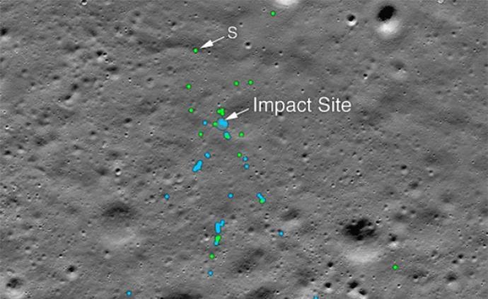 NASA发现印度月球着陆器坠毁地点,碎片清晰可见