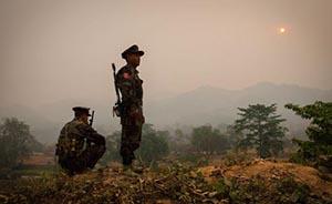 世界你好|缅甸北部:边境线丛林深处的独立军士兵