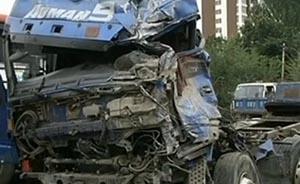 张家口货车撞公交站视频曝光,已8死6伤,系制动失灵所致