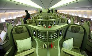 东航首架波音B777-300ER先期飞京沪航线