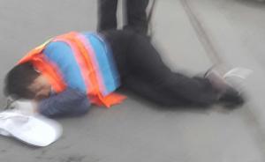 郑州六旬女环卫工被宝马车撞倒,28岁男车主逃逸被抓