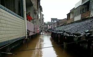 """强降水致江西瑞金近7万人受灾,小镇成孤岛""""呼吁救援"""""""