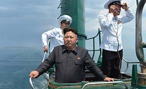朝鲜罕见公开金正恩视察潜艇照,或拥有70余艘潜艇