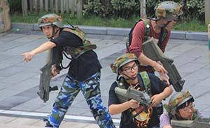 """上海一高校军训首设""""反恐""""演练,将组反恐队与士兵对抗"""