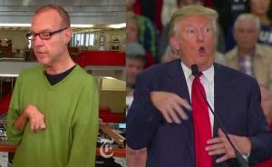 """""""大嘴""""特朗普因嘲笑模仿残障记者遭抨击,支持率首度大跌"""