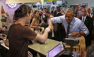 奥巴马下馆子问收银员是不是gay,见有小孩随即收口