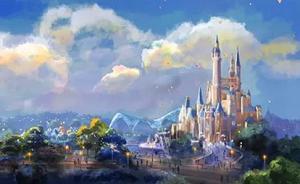 视频|揭秘上海迪士尼六大园区,世界最大奇幻童话城堡正上色