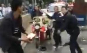 贵阳城管部门证实1摊贩与4城管当街对打,正在调查