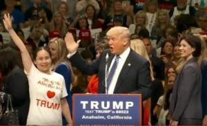 """特朗普盯上华裔选票,加州造势高呼""""我爱中国人"""""""