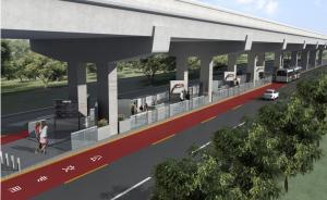 上海延安路要通无轨电车:高架下架设触网,隔离带上建车站