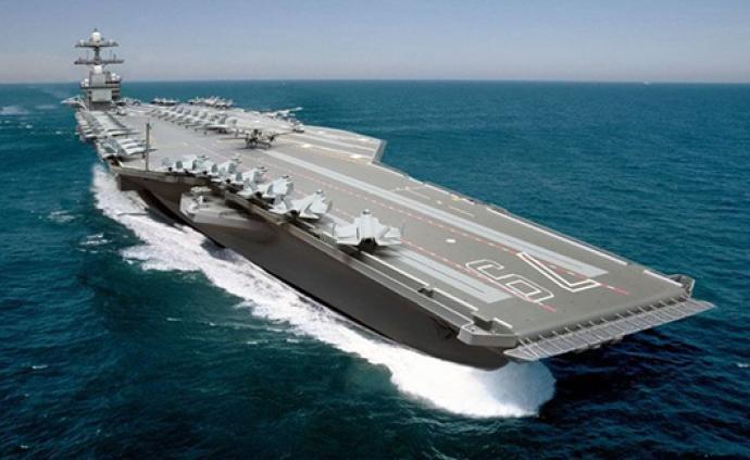 """美""""福特级""""航母二号舰举行命名仪式,肯尼迪女儿到场见证"""