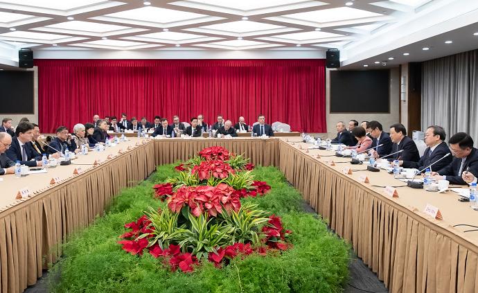 应勇与外国驻沪领团见面:优化营商环境让市场有更稳定预期