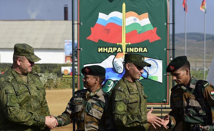 俄印在印度啟動聯合軍演,俄海陸空三軍均參加