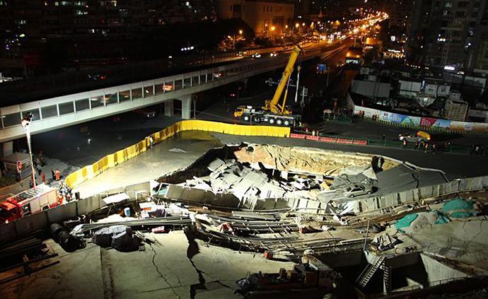 受呂厝路口路面塌陷影響,廈門地鐵1號線部分站停運