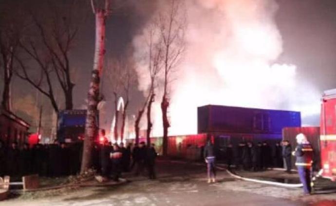 北京朝陽區物流倉庫火災原因查明,責任人已被公安機關控制