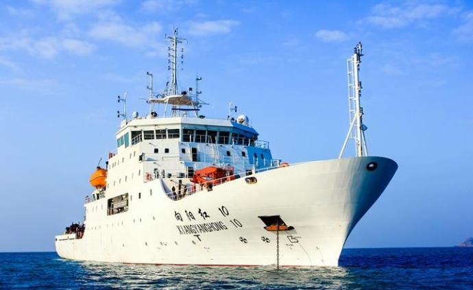 """完成中國大洋54航次科考, """"向陽紅10""""返航停靠舟山"""