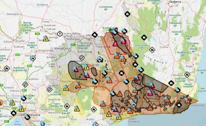 澳大利亞山火蔓延,駐墨爾本總領館提醒中國公民留意火情